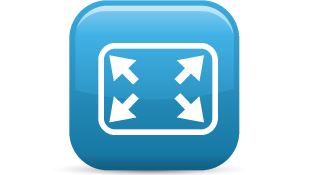 Expand elements glossy icon