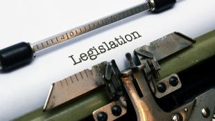 Legislation word on paper in typewriter