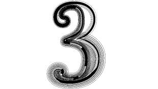 Black number three
