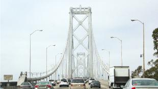 Bridge with cars in traffic