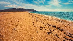 Beach focus on sand