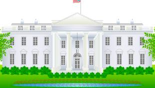 White house legislature building illustration