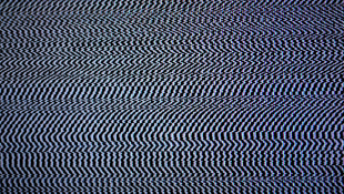 Blackout black and white zigzags cable out