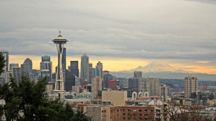 Seattle skyline including space needle