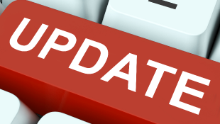 Red Update keyboard button