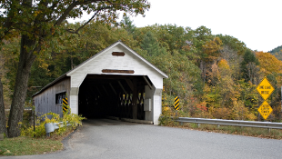 Covered bridge in Dummerston Vermont