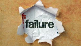 Failure in ripped paper