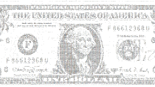 Dollar bill black and white