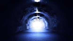 Dark tunnel road