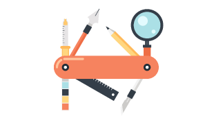 Illustration of swiss army knife