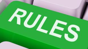 Rules green key on keyboard