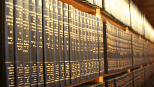 Legal books on bookcase