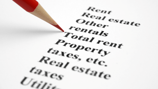 Words on page property taxes rent real estate utilities