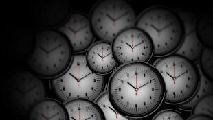 Clocks in black background