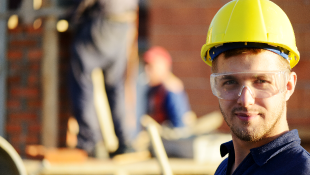 Construction worker in site