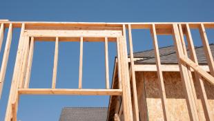 Wood frame of building