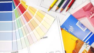 Color swatches decorator designer