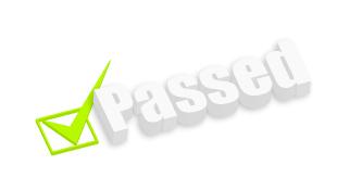 Check mark next to Passed