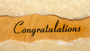Congratulations on sheet of paper