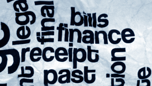 Words vertical and horizontal bills-finance-receipt-past-final-money