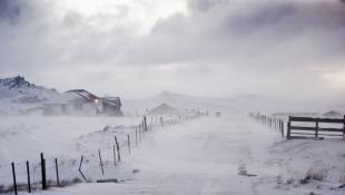 Winter storm rural area