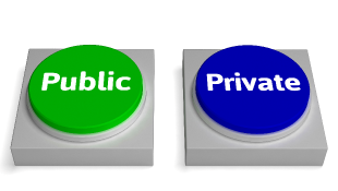 Public and Private buttons