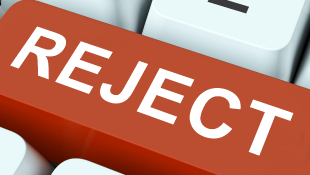 Red reject keyboard button