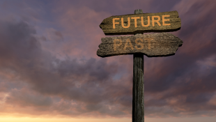 Sign with future and past