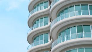 Exterior of modern high rise