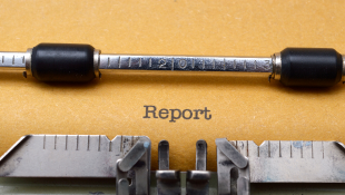 Report on paper in typewriter