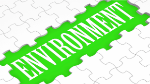 Green environment word in puzzle