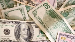A pile of money bills
