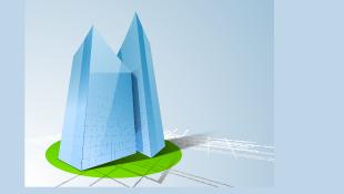 3d concept of architectural design