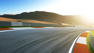 Motion blurred of race track