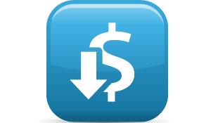 Decrease revenue icon