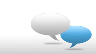 White and Blue Communication Bubbles