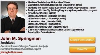 Construction and Design Consulting Expert Witness