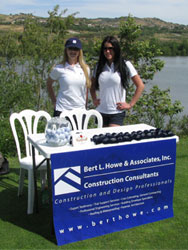 Supporting the golf tournament at the 15th hole